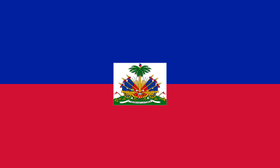 haitian flag since 1986, red and blue with emblem, current haitian flag, caribbean flag, coat of arms