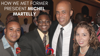 michel martelly, haiti president, haitian blogger, award, haiti, diana pierre-louis, endy pierre-louis, white girl blogger about haiti