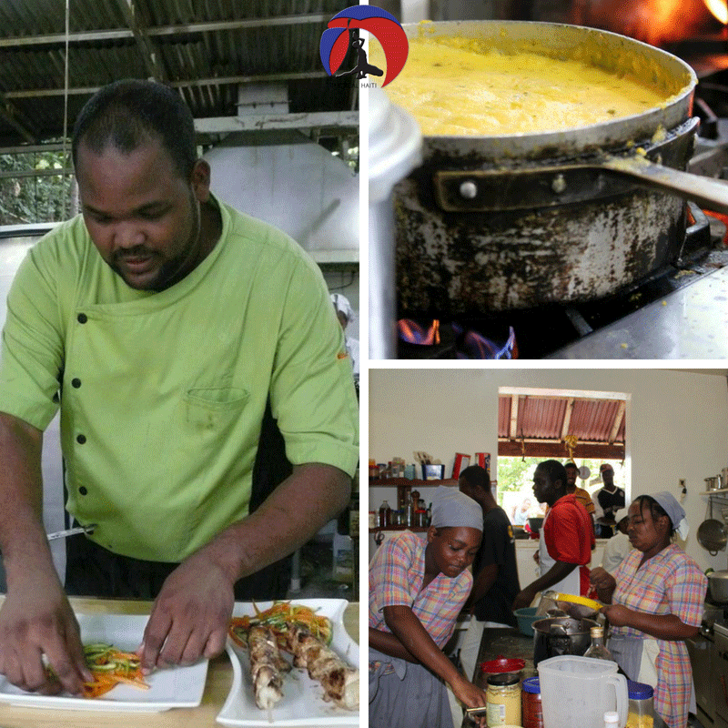 behind the scenes in haitian kitche, cooking, haitian recipie, haiti cooking, chef, cook, women in the kitchen cooking, restaurant, chef tony