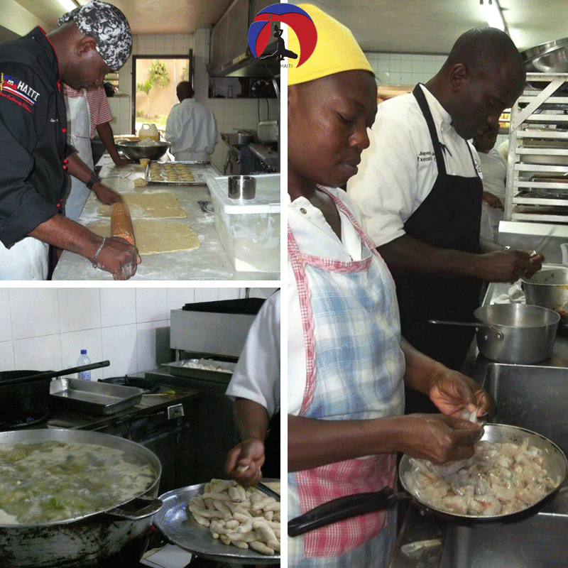 behind the scenes in haitian kitchen, haiti, hotel, special event, gout et saveurs lakay, chef david destinoble, chef jovens jean