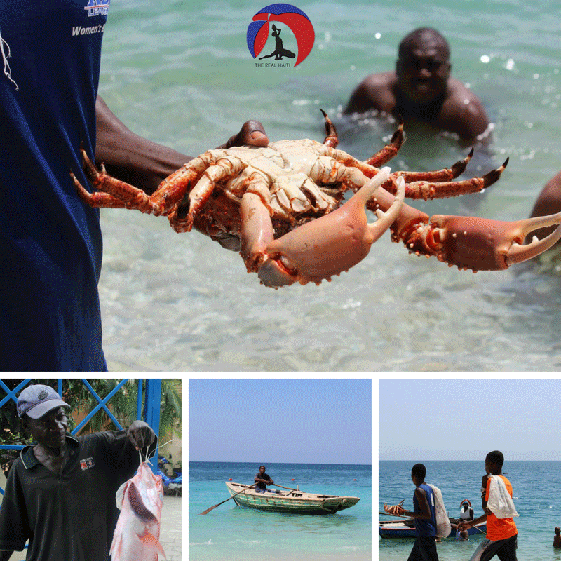 fresh seafood by the sea, ocean, sunday funday, wahoo bay, kaliko bay haiti, haitian hotel, fisherman, red snapper, crab, lobster, roma, catch fish and grill, haitian boat, lunch, dinner on the water